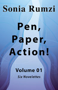 Pen, Paper, Action! by Sonia Rumzi book cover front