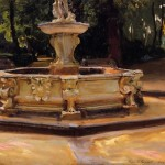 A Marble Fountain-John singer Sargent