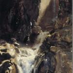 A Waterfall-John singer Sargent