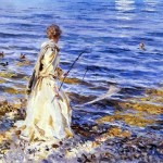 Girl Fishing-John singer Sargent