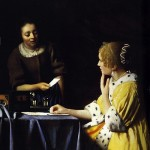 Lady with Maidservant Holding Letter-Jan Johannes Vermeer