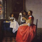 The Girl with the Wine Glass- Jan Johannes Vermeer