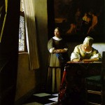 Woman Writing a Letter-Jan Johannes Vermeer