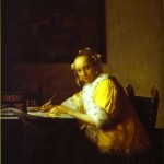 Writing a Letter-Jan Johannes Vermeer