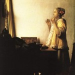 Young Girl with Pearl Necklace-Jan Johannes Vermeer