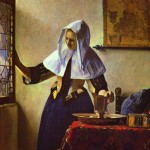 Young Woman with Water Pitcher-Jan Johannes Vermeer