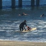 Surf's Up with Father and Daughter