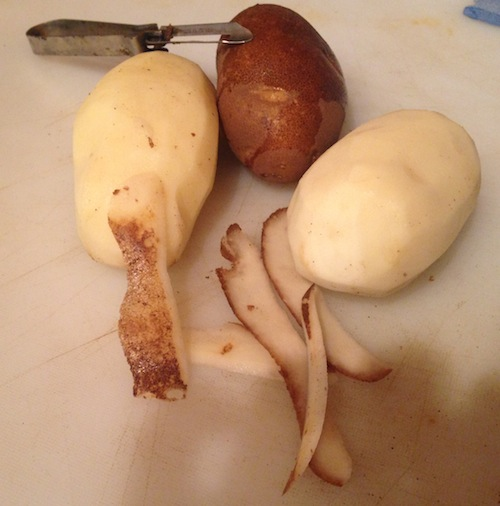 1Peel potatoes if desired